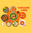 portuguese cuisine lunch icon for menu design vector image vector image