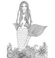 sexy mermaid vector image