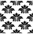 Damask seamless pattern with bold flowers vector image