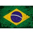 Brazilian flag Grunge background vector image vector image