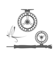Fishing reel icons vector image
