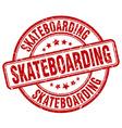 skateboarding red grunge round vintage rubber vector image