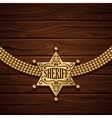Sheriff Badge Design vector image