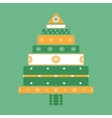 Christmas tree gifts card background vector image