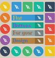 Feather icon sign Set of twenty colored flat round vector image