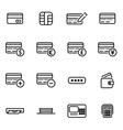 line credit card icon set vector image