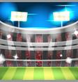 soccer night stadium sport background vector image