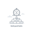 Time to change and develop good habits vector image