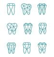 tooth symbol set vector image