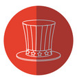 top hat celebration party national decoration red vector image