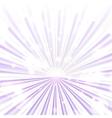 Trendy purple rays vector image