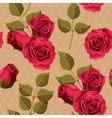 Vintage roses seamless vector image