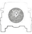 wheel cover - cheetah vector image