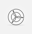 wind energy round icon vector image