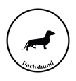 Dachshund dog icon vector image vector image