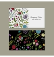 Business card floral design vector image vector image