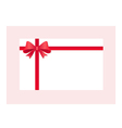 Gift Card With Red Ribbon And A Bow vector image vector image