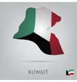 country kuwait vector image vector image