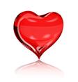 Big red heart vector image vector image