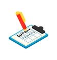 Golf scorecard with pan isometric 3d icon vector image