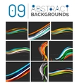 Set of smooth abstract backgrounds vector image vector image