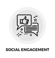 Social Engagement Line Icon vector image vector image