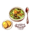 Soup for dinner vector image