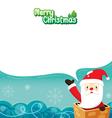Santa Claus In Chimney vector image