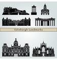 Edinburgh landmarks and monuments vector image vector image