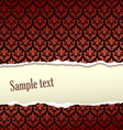 Tear paper vector image vector image