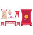 furniture ancient china vector image