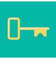 Golden key from car icon Flat design Green vector image