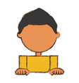 kid faceless cartoon vector image