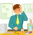 sick at work vector image