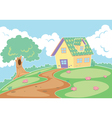 a house in a nature vector image vector image