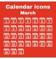 The calendar icon March symbol Flat vector image