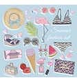 Summer fashion accessories set vector image