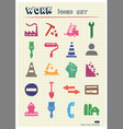 Industrial work and repair web icons set vector image vector image