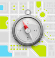 navigation compass on the city map vector image