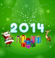 Santa and many gifts vector image vector image