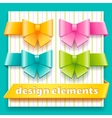 Collection of design elements for decoration child vector image