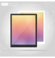 flat technic laptop phone tablet vector image