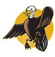 angry mallard duck vector image