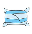 comfortable pillow isolated icon vector image
