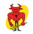 devil with pitchfork vector image