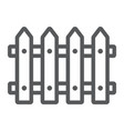 fence line icon wooden and architecture vector image