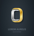 Letter O Template for company logo 3d Design vector image