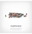 people map country Puerto Rico vector image