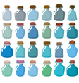 Set of glass bottles for laboratory research Magic vector image