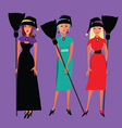 Three witches vector image